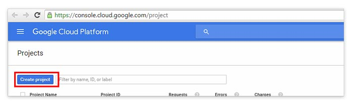 Create New Project Google Cloud Platform Basics