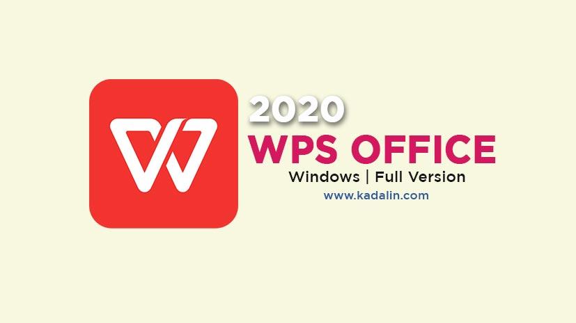 WPS Office 2020 Full Download Crack Windows
